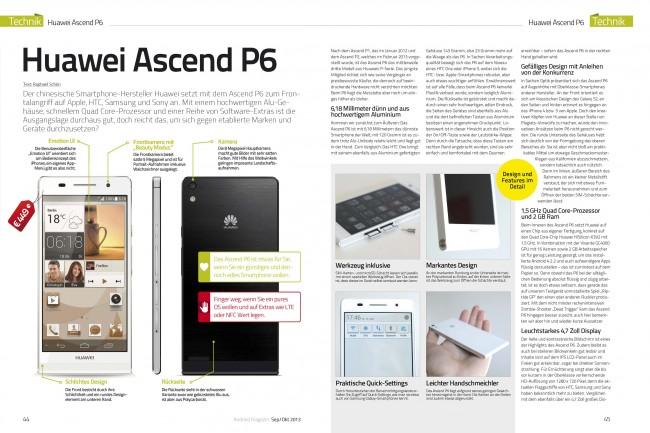 Gerätetest: Huawei Ascend P6 (2 von 4 Seiten)