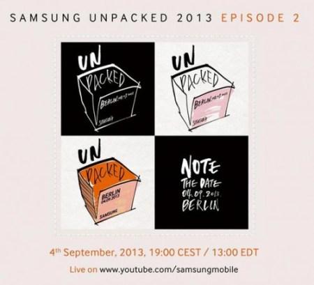 Die Einladungen sind schon raus: Am 4. September will Samsung in Berlin das Note 3 vorstellen