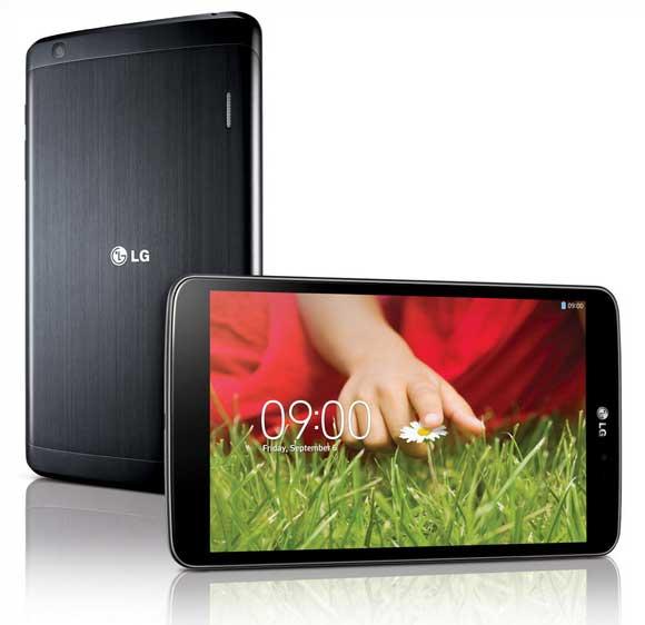 Das LG G-Pad 8.3 führt die Design-Linie des LG G2 fort.