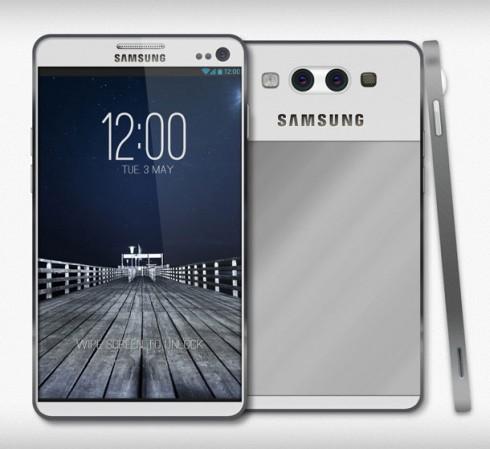 Könnte so vielleicht ein Samsung Galaxy F mit Metallgehäuse aussehen? (Bild: Concept-Phones.com)