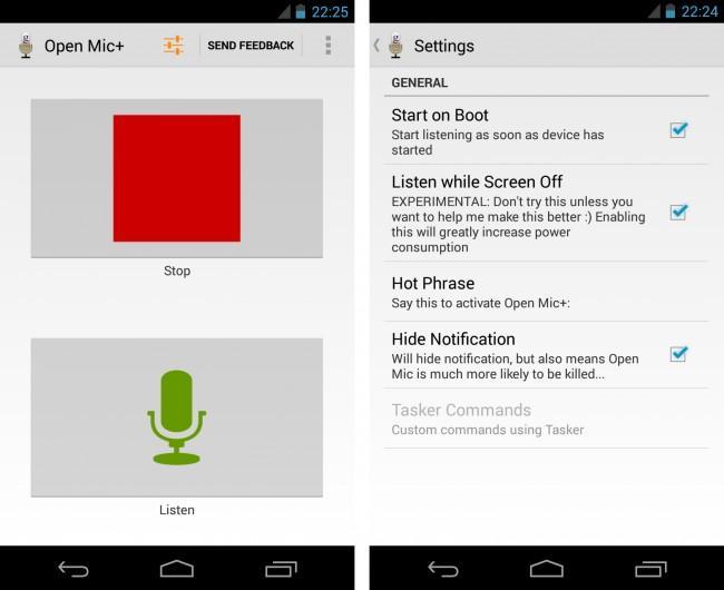 Open Mic+ hört dir auch bei ausgeschaltetem Bildschirm zu. Allerdings kostet dies zu viel Strom, um wirklich praktikabel zu sein.