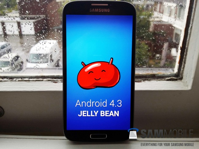 Sehr lange kann es bis zur Veröffentlichung der Android 4.3 Firmware für das Samsung Galaxy S4 nicht mehr dauern. Foto: Sammobile.
