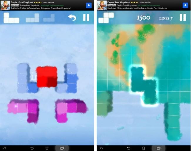 Anstatt verschiedene Steine anzuordnen gilt es bei Dream of Pixels die Steine zu lösen.