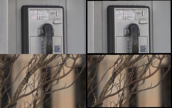 Die korrigierten Fotos (rechts) zeigen deutliche Verbesserungen gegenüber dem Rohmaterial. (Fotos: University of British Columbia)