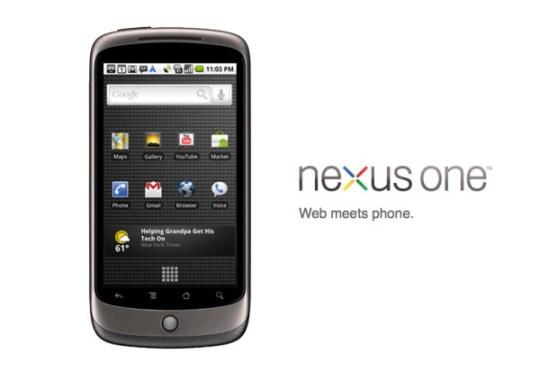 Das Nexus One war das aller erste Nexus-Smartphone und wurde direkt von Google verkauft (Bild: Google)