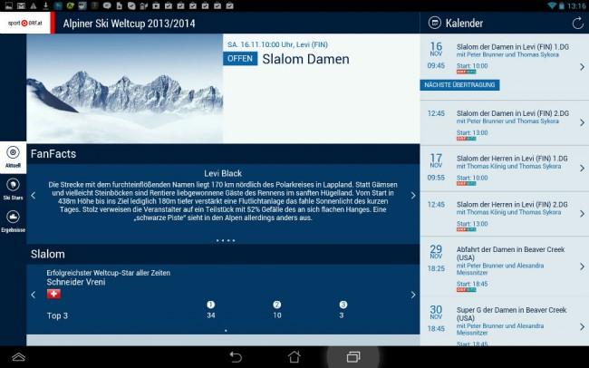 Mit der Ski Alpin Weltcup App des ORF verpasst du keine Facts und Infos rund um die Rennen.