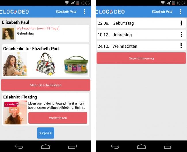 Die Geschenke-App Locadeo findet persönliche Geschenkideen zu Weihnachten.