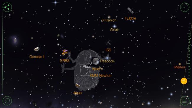 Die App zeigt eindrucksvoll Sternenbilder, Planeten, Sateliten und was sich sonst noch im Weltall bewegt.