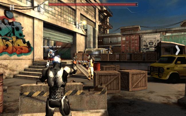 In diesem Rail Shooter konzentrierst du dich auf das Beschießen von am Bildschirm erscheinenden Gegnern. Viel Zeit solltest du dir dabei nicht lassen, andernfalls nimmt dein Roboter empfindlichen Schaden.