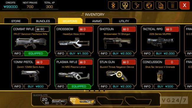 Das Waffensystem ist durchaus durchdacht. Nicht jede Waffe ist in jeder Situation effektiv genug um eingesetzt zu werden.