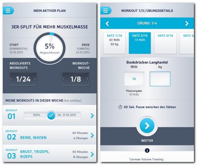 Erstaunlich umfangreich: Individuelle Auswertung auf höchstem Niveau – der LOOX Fitness Planer informiert detailliert über Fortschritte.