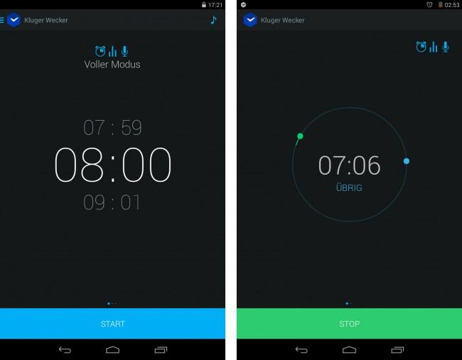 Die App Kluger Wecker weckt dich nicht unflexibel zu einem vorgegebenen Zeitpunkt auf, sondern dann, wenn du dich in einer Leichtschlafphase befindest.