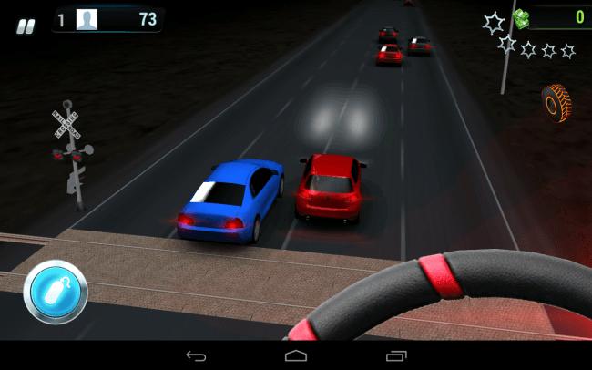 Überholen reicht nicht: Im Spiel Road Smash musst du die anderen Autos seitlich rammen, um erfolgreich zu sein.