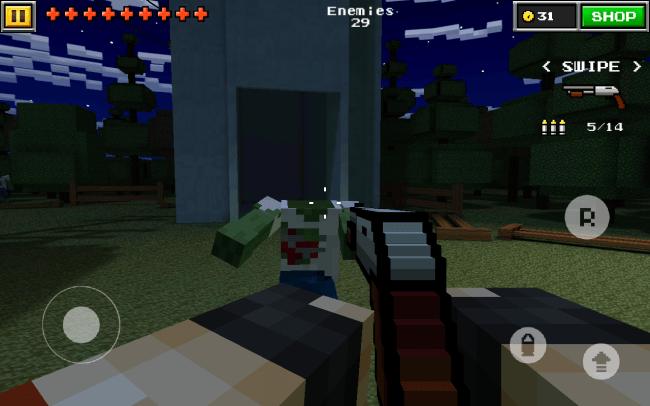Pixel Gun 3D richten den Stil des Egoshooters, an Minecraft aus.