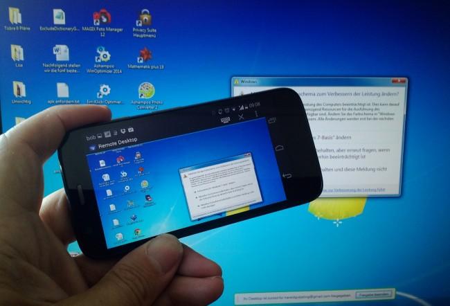 Die Fernsteuerung klappt nach dem Einrichten auf PC und Smartphone tadellos