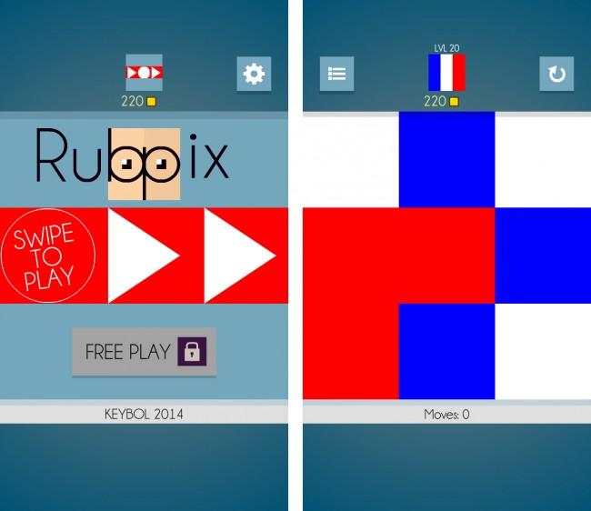 Bilde durch Schieben die Flagge Frankreichs nach. Klingt einfach, ist es aber nicht.