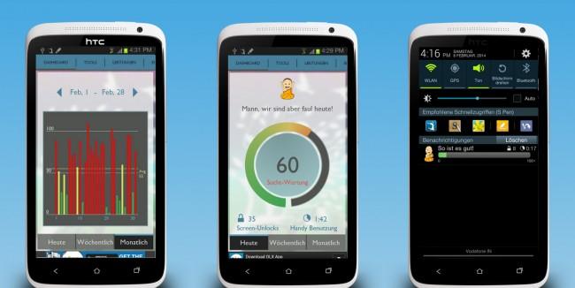 Diese App misst deine Handy-Sucht und stellt auch mögliche Gegenmaßnahmen bereit.