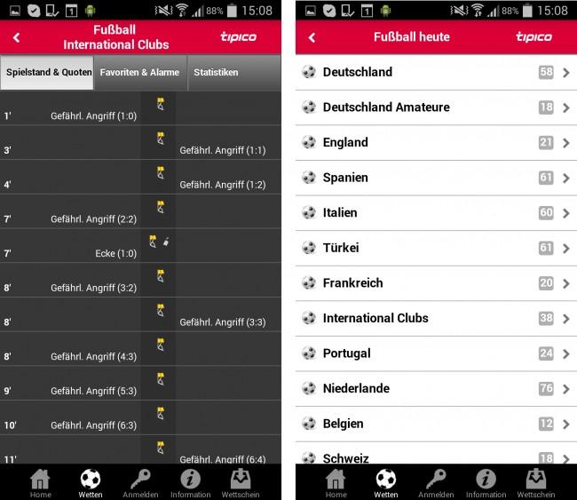Die beste App in unserem Test: Tipico überzeugt mit starken Quoten, einem übersichtlichen Aufbau und zahlreichen nützlichen Extras.