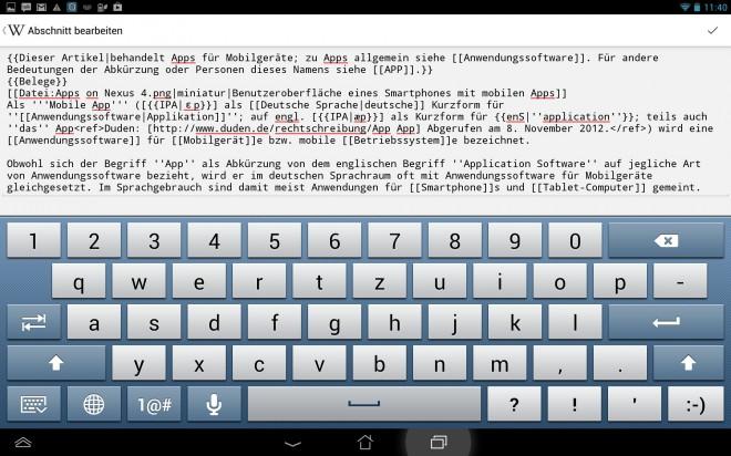 Ab sofort kannst du Artikel auch in der App editieren.