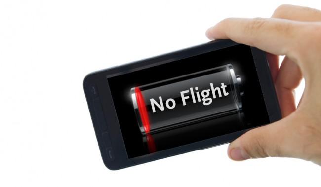 Kein Akku – kein Flug. Bzw. das Handy muss zu Hause bleiben