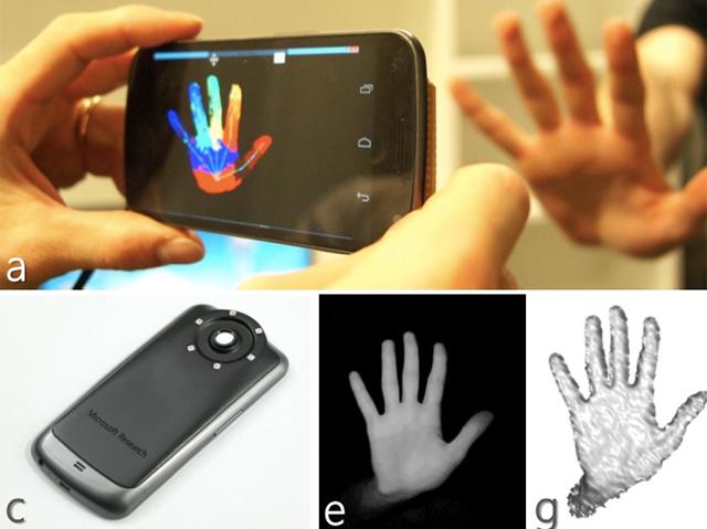 Microsoft verwandelt ein handelsübliches Android-Smartphone in eine Kinect-Kamera.