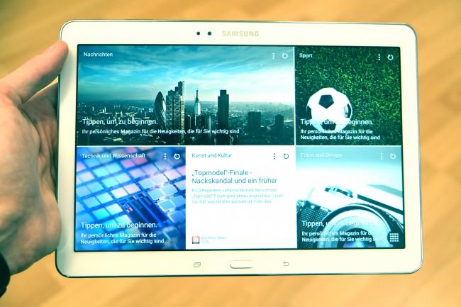 """Mit dem """"Magazine UX"""" können Sie neben speziellen App-Widgets auch News-Meldungen anzeigen lassen."""