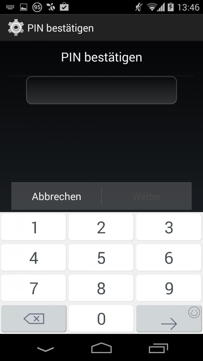 Android-Verschlüsselung-PIN