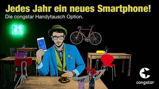 Dank der neuen Handytausch Option von congstar kannst du nach 12 Monaten dein bisheriges Smartphone gegen ein neues Modell eintauschen. (Foto: congstar GmbH)