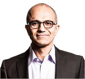 """Microsoft-Chef Satya Nadella, zerknirscht nach einer missverständlichen Äußerung über Frauen, die lieber nicht nach Gehaltserhöhungen fragen sollten: """"Ich habe diese Frage vollkommen falsch beantwortet. [...] Ich glaube, dass Männer und Frauen für die gleiche Arbeit die gleiche Bezahlung erhalten sollten."""" (Foto: Microsoft)"""