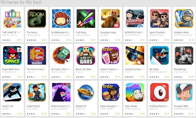Für nur 99 Cent pro App kannst du dich heute mit neuen Spielen für dein Android-Smartphone eindecken.