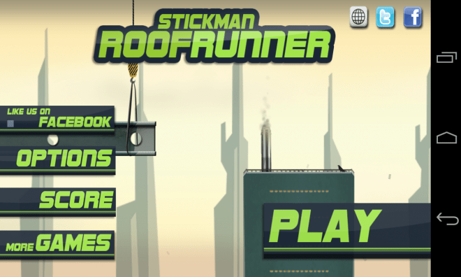 Stickman Roof Runner - Titelbild