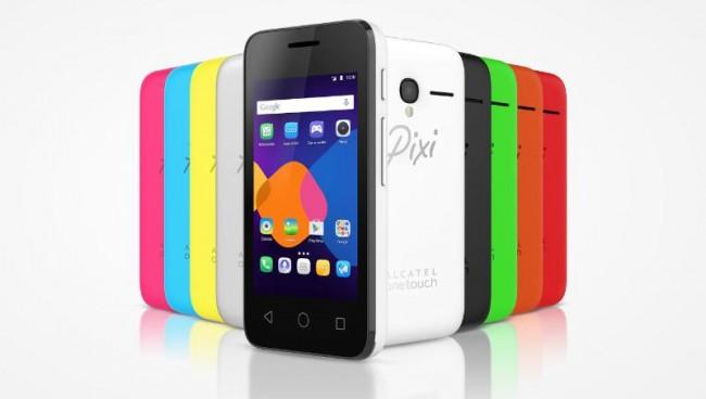 """Die vier neuen """"Pixi 3""""-Smartphones unterstützen prinzipiell die Betriebssysteme Android, Windows Phone und Firefox OS. (Foto: Alcatel Onetouch)"""