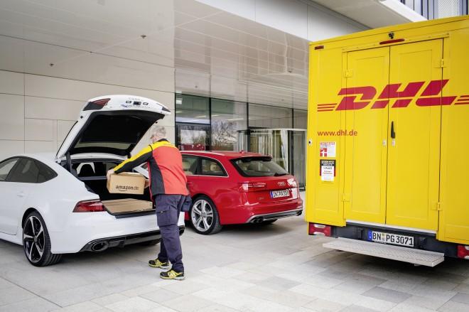 Audi liefert mit DHL und Amazon das Komfort-Paket