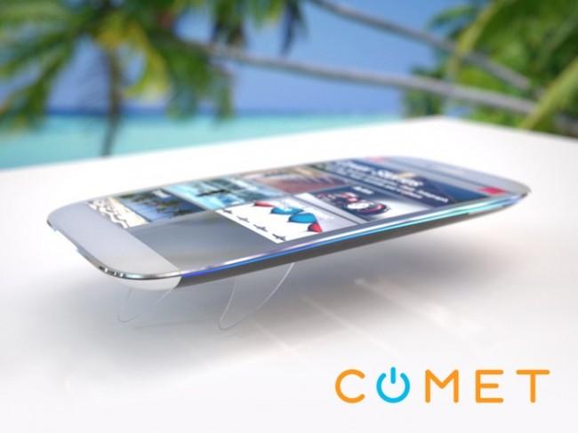 Das Comet-Smartphone besitzt ausfahrbare Flossen, die dafür sorgen sollen, dass das Gerät im Wasser nicht untergeht. (Foto: CometCore)