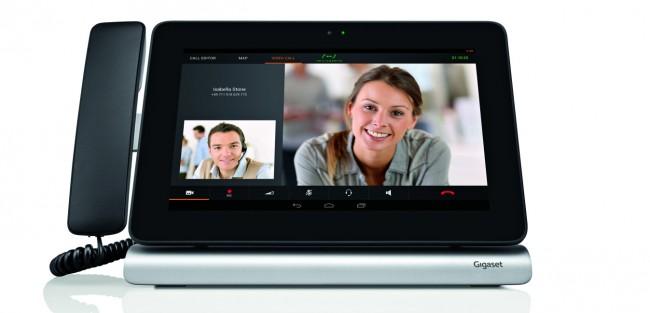 Auch in dem IP-basierten HD-Videotelefon Gigaset Maxwell 10 kommt das Betriebssystem Android zum Einsatz (Foto: Gigaset AG)