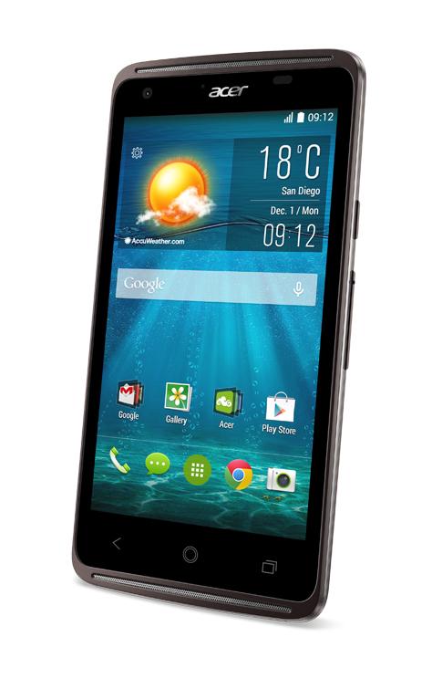 Das Acer-Smartphone Liquid Z410 hat eine Bildschirmdiagonale von 4,5 Zoll und eine Auflösung von 854 mal 480 Punkten. Die rückwärtige Kamera verfügt über 5 Megapixel. (Foto: Acer Inc.)