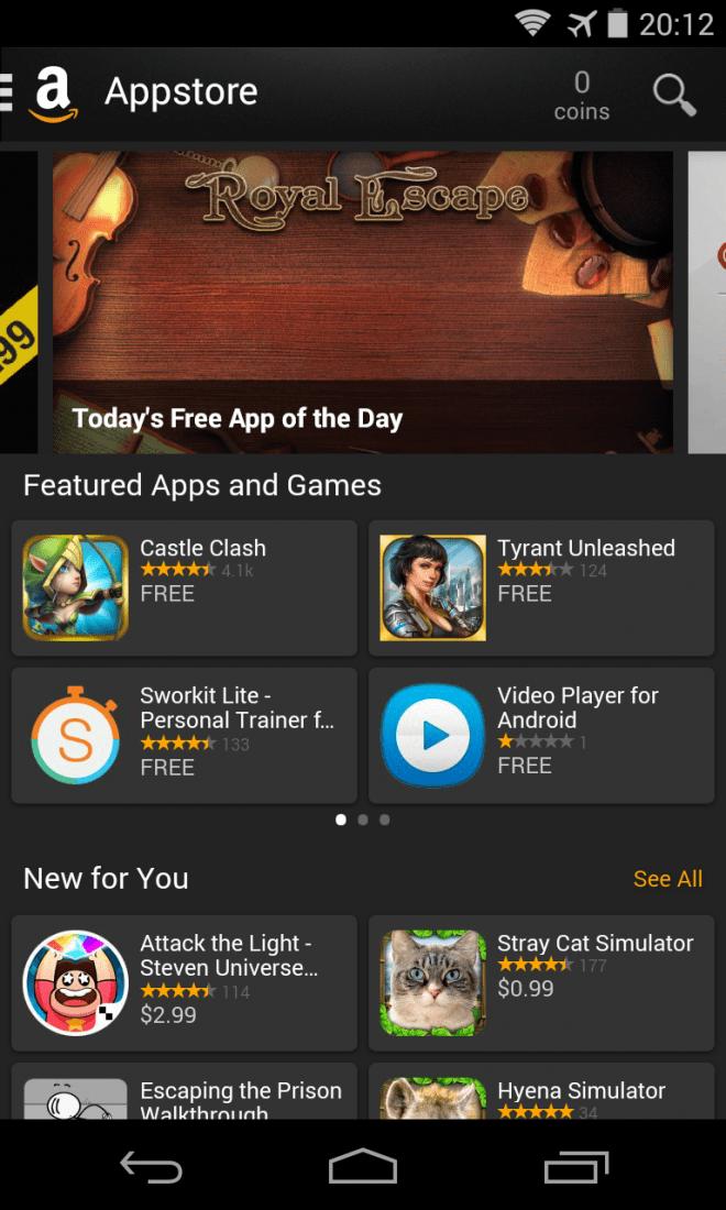 Der Amazon App Shop ist gut bestückt. Allerdings befinden sich die Apps nicht immer auf dem gleichen Stand wie im Google Play Store.