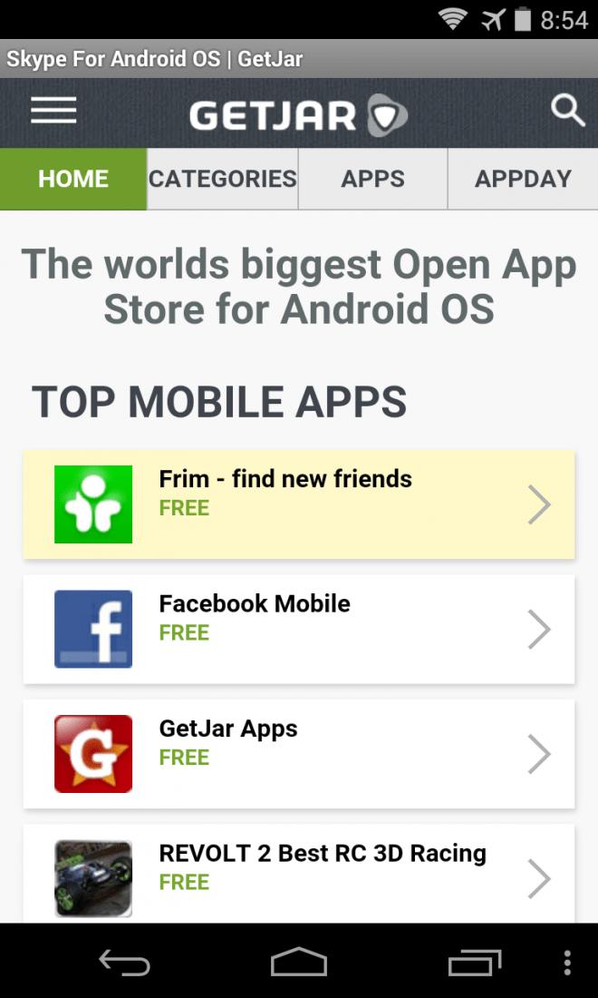 Kostenpflichtige Apps suchen Sie im GetJar-Store vergebens. Neben Android unterstützt der Shop auch ältere Betriebssysteme.