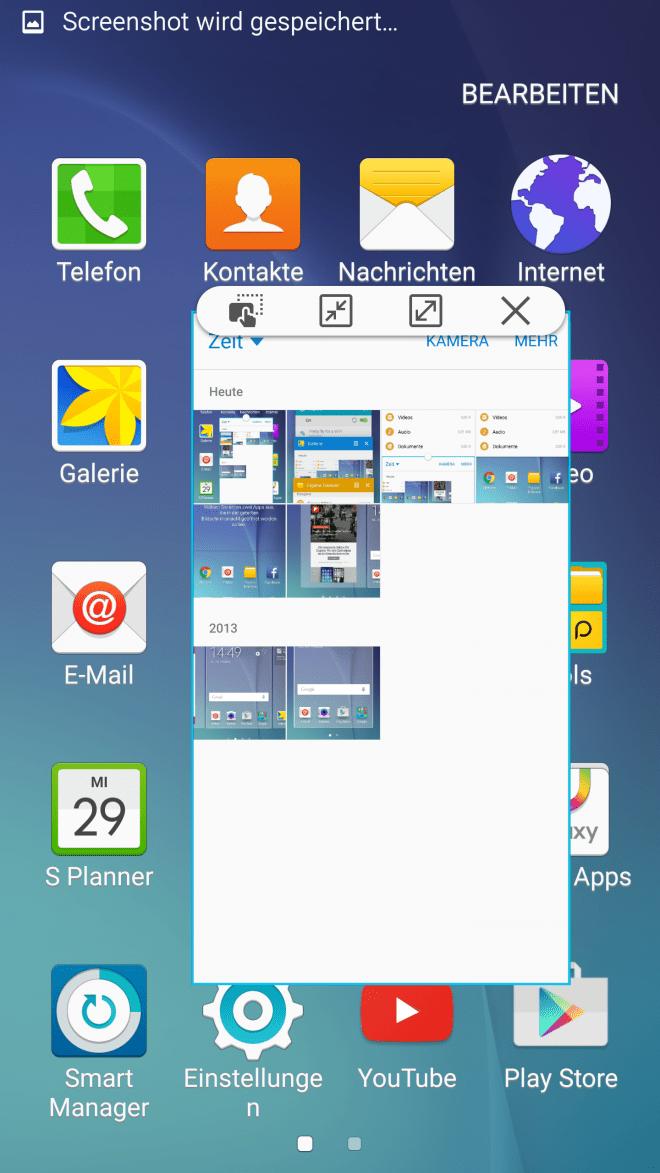 Die Nutzung zweier Fenster ist mit dem Galaxy S6 kein Problem, ebenso wie Arbeiten im Fenstermodus.