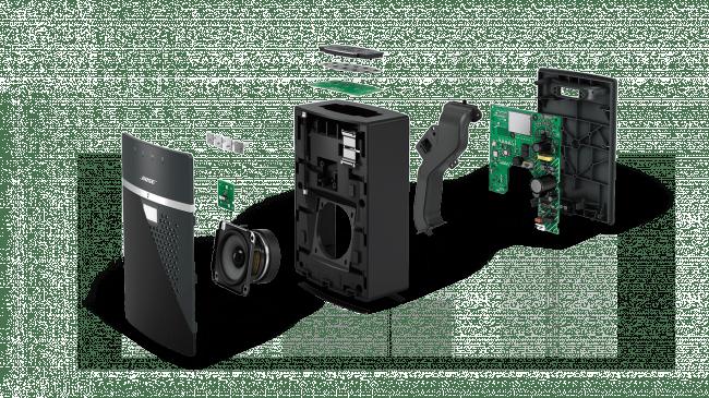 Size doesn't matter Es ist eine alte Bose-Tugend: Großer Klang trotz kleiner Box. Diese Qualität konnte man auch für das kleinste Modell der SoundTouch-Klasse bewahren. Natürlich will man sich nicht mit Lautsprechern mit deutlich größerer Membran messen, innerhalb der Klasse beansprucht Bose aber klar die Führerschaft für sich. Grund für die (zugegebenermaßen) beeindruckende Leistung dürfte die extreme Membranauslenkung sein, die bei der Größe kein vergleichbares Gerät bieten kann.