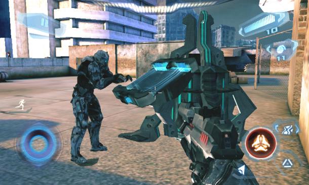 Manche Missionen muss man im Rudel erledigen. Hier gilt es einen Hacker vor Aliens zu beschützen.