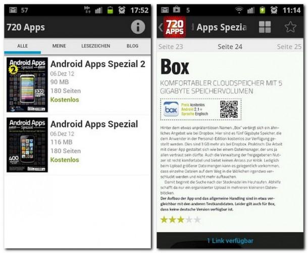 720 deutschsprachige App-Reviews direkt auf deinem Smartphone.