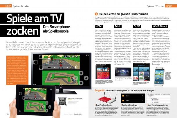 Android Magazin 8 - Spiele am TV zocken (2 von 6 Seiten)