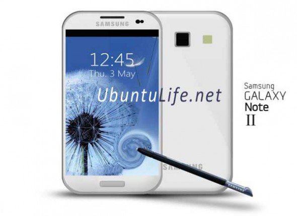 Ein Mockup zum Galaxy Note 2. Foto: ubuntulife.com