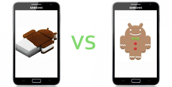 Gingerbread vs ICS.