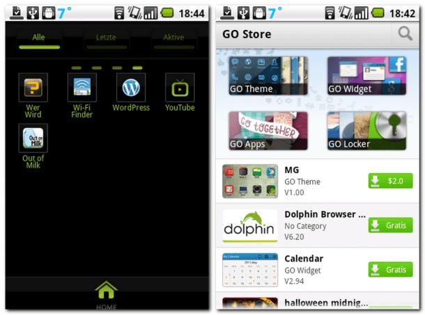 Mit dem Go Launcher EX und den dafür verfügbaren Themes wirkt Ihr Homescreen niemals langweilig. Der Go Launcher EX bietet unzählige Themes - sowohl für die Homescreens als auch für den Lockscreen.