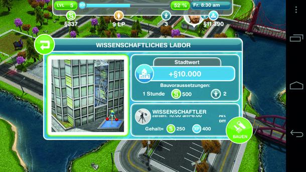 Ihre Sims können auch Berufe ergreifen und so das dringend nötige Kleingeld für neue Möbel nach Hause bringen.