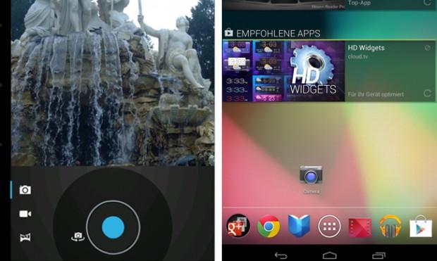 Kamera-App für Nexus 7