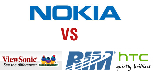 Nokia schlägt zurück: Patentklagen gegen HTC, RIM und Viewsonic