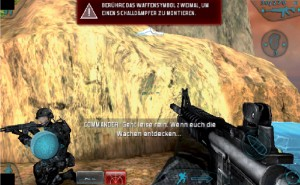 Durch einen Klick auf eines der Symbole werden Befehle an das Team erteilt.